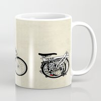 brompton Mugs featuring Brompton Bicycle by Wyatt Design