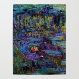 Water Lilies by Claude Monet Poster