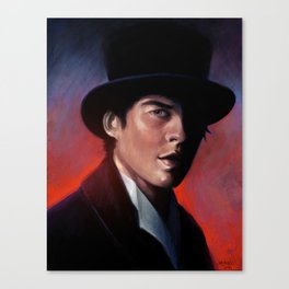 Damon in a Tophat Canvas Print