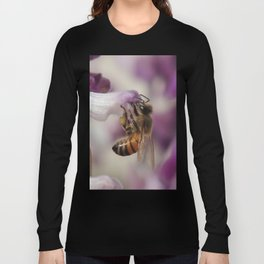 Worker Bee on Mexican Sage Long Sleeve T-shirt