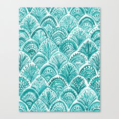 AQUA LIKE A MERMAID Fish Scales Canvas Print
