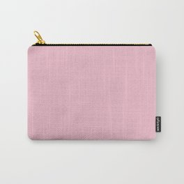 Orchid Pink Solid Color Block Carry-All Pouch