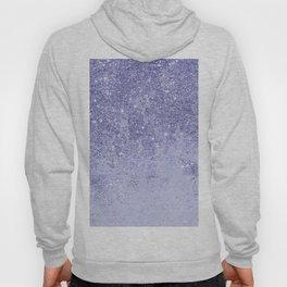 Elegant girly lavender faux glitter marble pattern Hoody