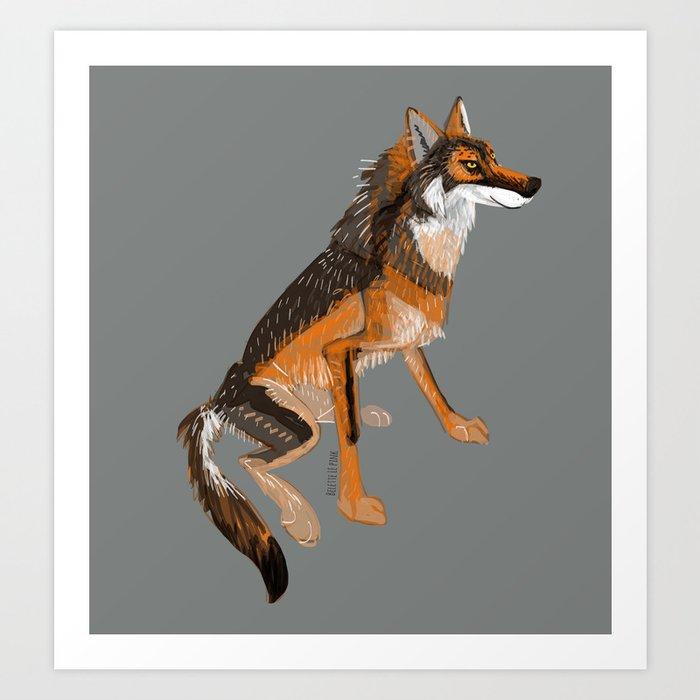 Wolves of the World: Iberian wolf (GREFA) Art Print
