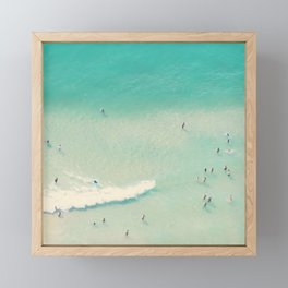 beach summer waves Framed Mini Art Print