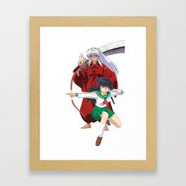 true love inu and kagome Framed Art Print