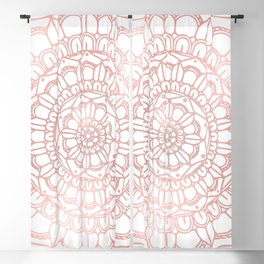 Rose Gold Boho Mandala Blackout Curtain