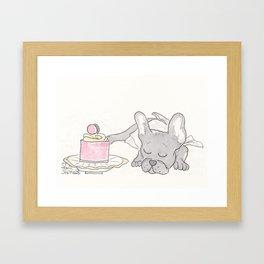 Hello, Gorgeous : Sweet Dreaming Frenchie French Bulldog Framed Art Print
