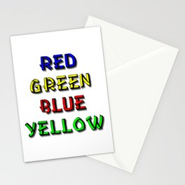 Red Green Blue Yellow Brain Teaser Stationery Cards