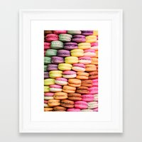 macaroons Framed Art Prints featuring Macaroons by lescapricesdefilles