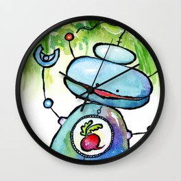 Beet Bot Wall Clock