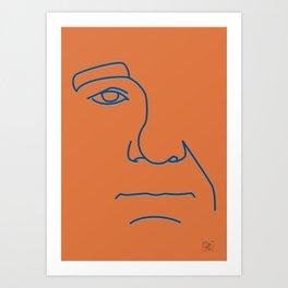 Bill Murray - Steve Zissou palette Art Print