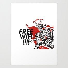 Free wifi Chinese style Print art Art Print
