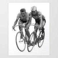1964 - Anquetil & Poulidor - Le Tour de France Art Print