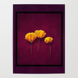 Three Poppies Poster