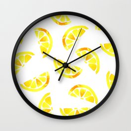 Spring Lemon Juice Wall Clock
