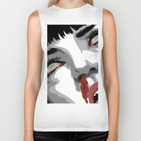 mia wallace Biker Tanks featuring There goes mrs. Mia Wallace by The Headless Fish