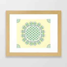 yellow Perisan tile Framed Art Print