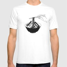 Enjoy Your Meal MEDIUM Mens Fitted Tee White