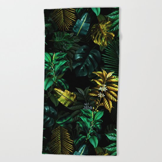 TROPICAL GARDEN VIII Beach Towel