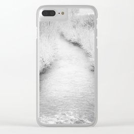 Torrent in winter Clear iPhone Case