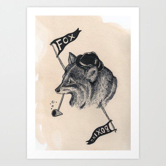 fox boxing Art Print