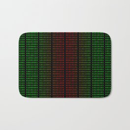 Binary Green and Red With Spaces Bath Mat