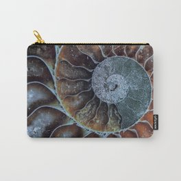 Spiral Ammonite Fossil Carry-All Pouch
