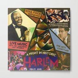 Vintage Harlem Renaissance Angels for the Arts Advertisement Poster Metal Print