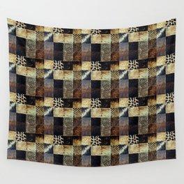 Wood Block Pattern Wall Tapestry