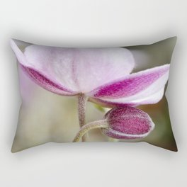 Japanese Anemone Bloom and Bud Rectangular Pillow