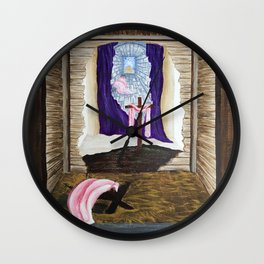 God As Man Wall Clock