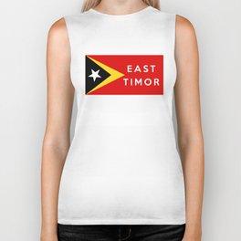 flag of east timor Biker Tank
