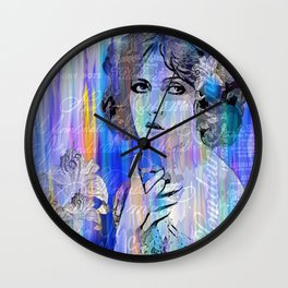 Clara Bow:  I'll See You In New York Wall Clock