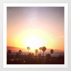 Sunrise & Palms Art Print
