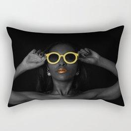 Black Excellence Rectangular Pillow