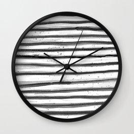 Zebra Swirl Stripe Wall Clock