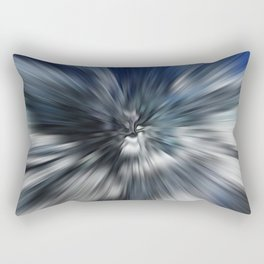 Abstract Black And Blue Starburst Rectangular Pillow