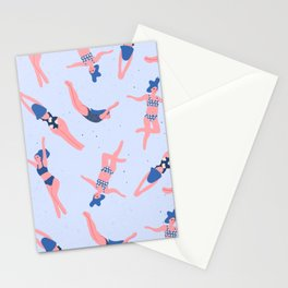 Girls in Water Stationery Cards