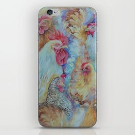 ROOSTERS Birds Animal painting Country style decor Vegan accent iPhone Skin