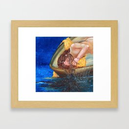 Aloha series Girl in a Boat Framed Art Print