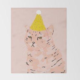 Party Cat Throw Blanket
