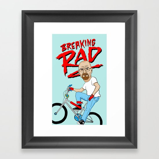 Breaking Rad Framed Art Print