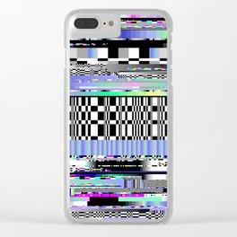Glitch Ver.2 Clear iPhone Case