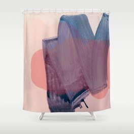 brush strokes 1 Shower Curtain
