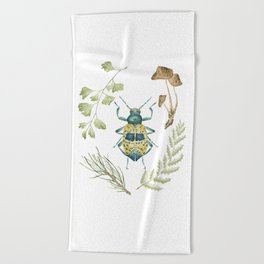 Coleoptera beetle in the Forest Beach Towel