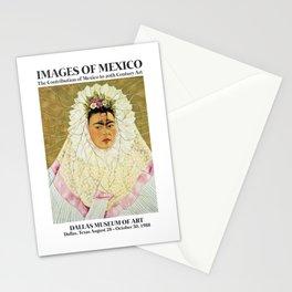 "Frida Kahlo Exhibition Art Poster - ""Diego on my mind"" 1988 Stationery Cards"