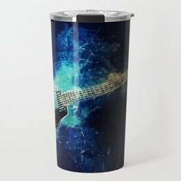 Electric Blue Guitar Travel Mug