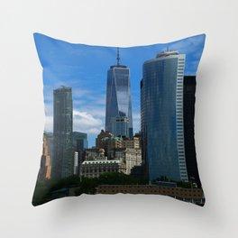 Manhattan View From Hudson River Throw Pillow