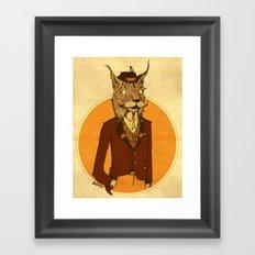 {Bosque Animal} Lince Framed Art Print